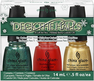 набор лаков China Glaze: Deck the Halls