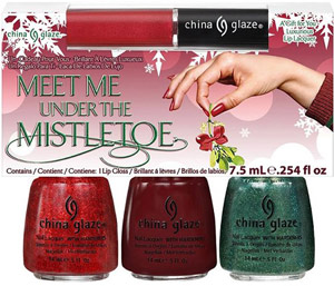 набор лаков China Glaze: Meet Me Under The Mistletoe