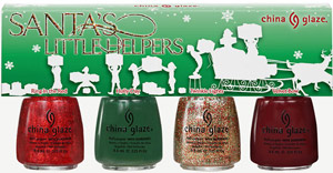 набор лаков China Glaze: Santa's Little Helpers Mini Pack