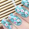 Цветы сакуры на ногтях