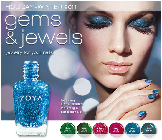 Gems and Jewels Zoya Новогодние лаки 2011