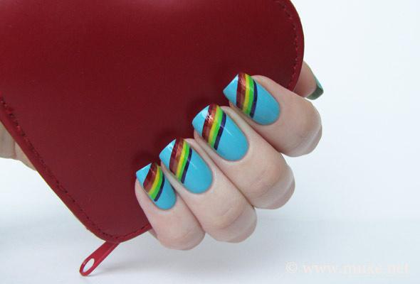 Дизайн ногтей - Радуга Нейл-Арт