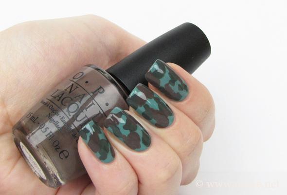 Дизайн ногтей камуфляж