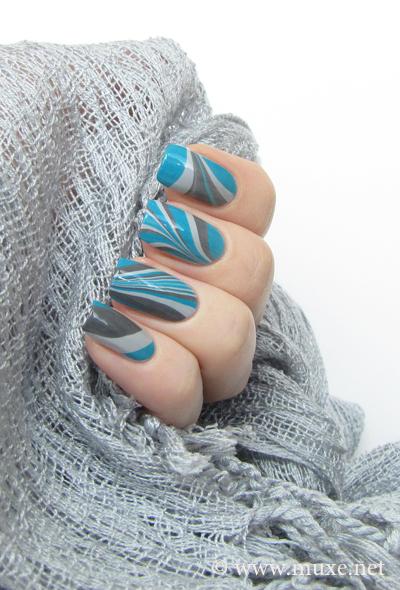 Мраморный дизайн - ногти