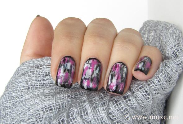 Grunge Nails In Pink And Black Maris Nail Polish Blog