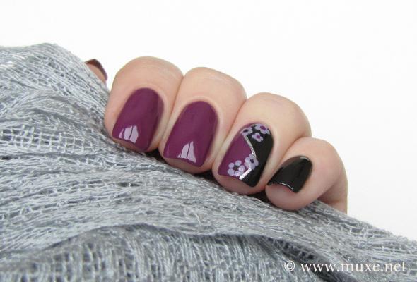 Black And Purple Color Block Maris Nail Polish Blog