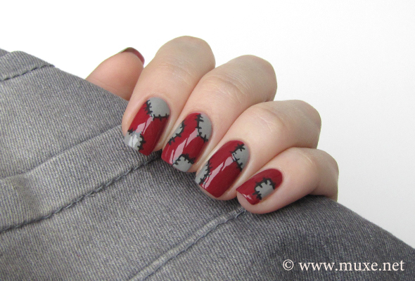 Nails patchwork design