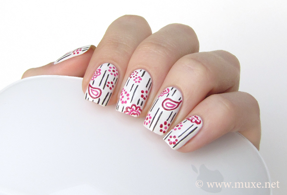 White nails design