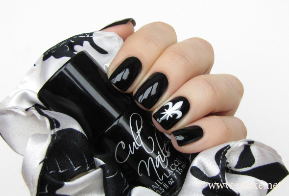 Black nail polish Cult Nails