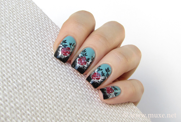 Grunge Roses Maris Nail Polish Blog