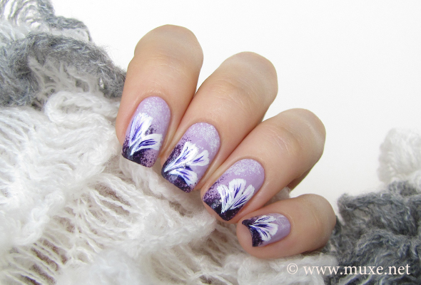 Iris flowers on nails