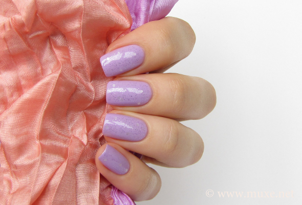 OPI Pirouette My Whistle over lilac nail polish