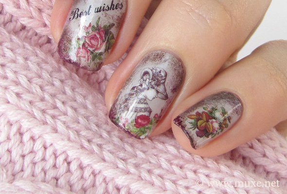 Vintage nails in brown and grey