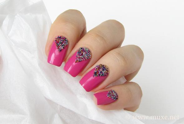 Beaded pink nails maris nail polish blog prinsesfo Images
