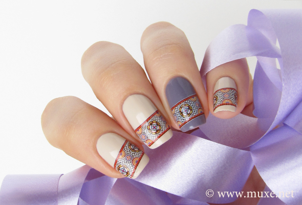 Nails oriental design