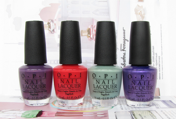 OPI nail polish bottles haul