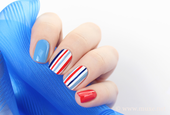 Red White And Blue Nail Polish Ideas Papillon Day Spa