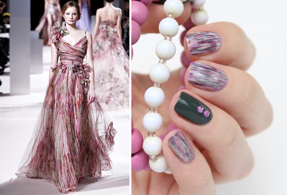 Fashion inspired nails design