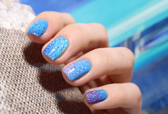Water drops nail decals