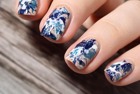 Color Splatter Nails Splatter Nail Design Over Nude